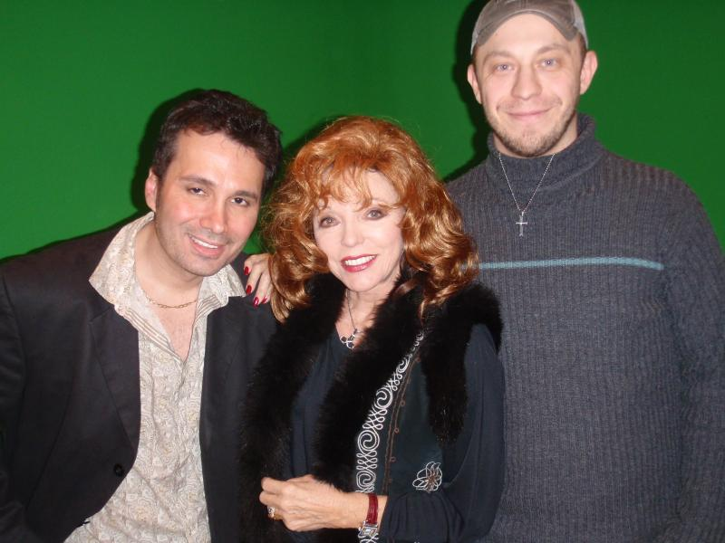 Charles Casillo, Joan Collins and Matt Pellowski (Director)