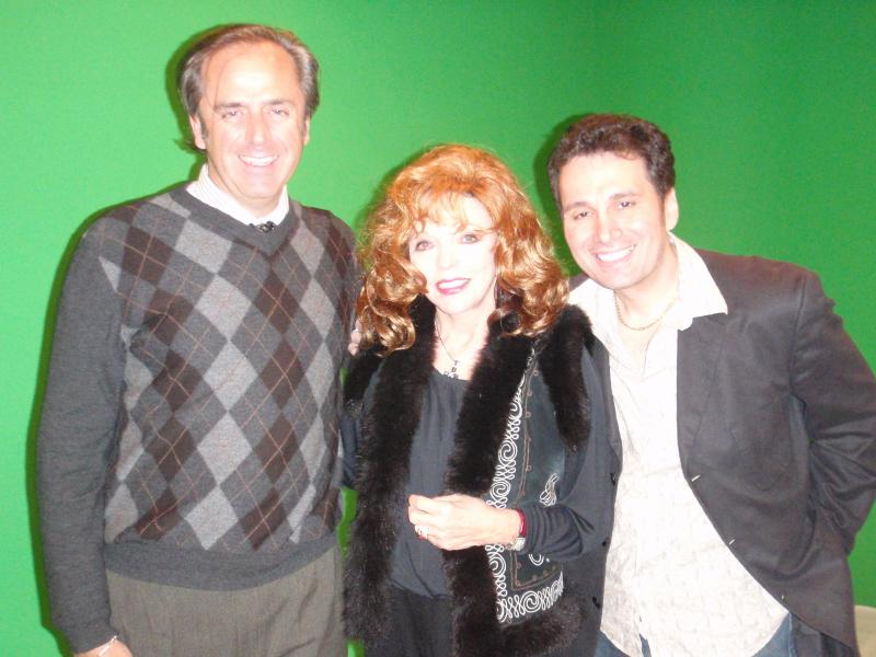 Kelvin Dale (Executive Producer), Joan Collins and Charles Casillo